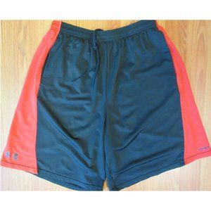 UNDER ARMOUR POLYESTER ATHLETIC SHORTS RED